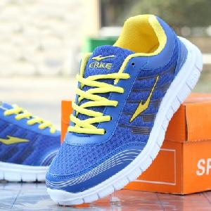 Дамски дишащи маратонки за лек спорт, джогинг, бягане и ежедневие - розови, жълти, сиви и сини