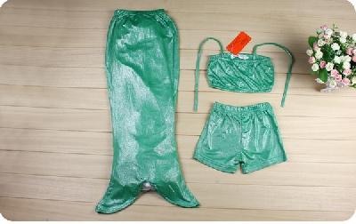 Детски бански тип русалка: 3 части
