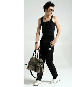 Меки мъжки и дамски пътни чанти  в черен и кафяв цвят - 42х30х15см