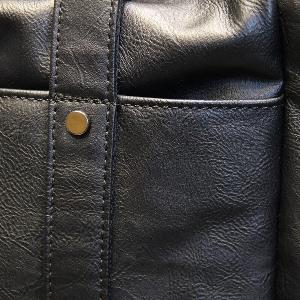 Черни сакове за ръчен багаж от изкуствена кожа