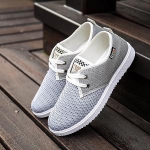 Мъжки летни обувки с дишаща мрежа подходящи за ежедневие, лек спорт и тичане - няколко модела