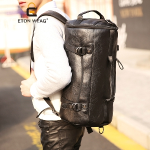 Мъжки и дамски пътни чанти тип раница от изкуствена кожа