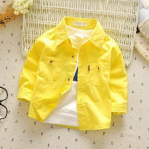 42d7143000a Παιδικά πουκάμισα για αγόρια: Λευκό, Κίτρινο, Μπλε, Κόκκινο - Badu ...