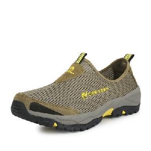 Мъжки туристически обувки - 4 модела - черни, бежови, зелени