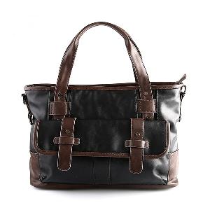 Пътни чанти от изкуствена кожа в черен цвят за мъже и жени