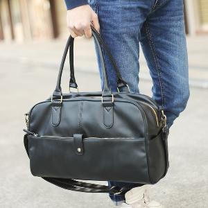 Кафяви и черни пътни чанти британски стил изработени от изкуствена кожа - 2 модела