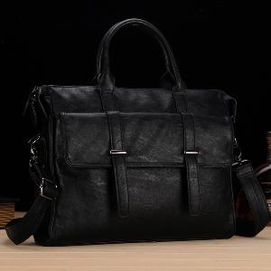 Черни и кафяви дамски и мъжки малки чанти за ръчен багаж - 38.5х30х5.5см