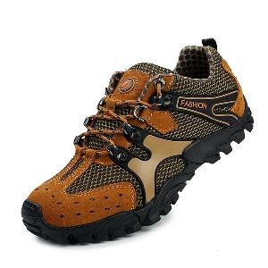Мъжки туристически обувки - 3 модела - кафяви, сиви, зелени