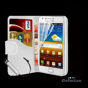 Калъф за Samsung Galaxy S2 + Дисплей протектор и капацитивна писалка