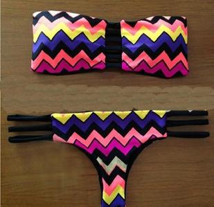 Дамски летни бански в свежи цветове в 5 различни модела