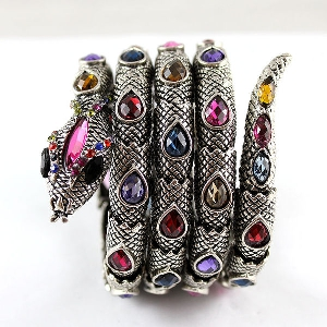 Дамски гривни с форма на змия три цвята