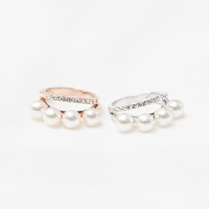 Дамски пръстени в златист и сребрист цвят - перла