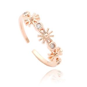 дамски пръстен в сребрист и златист - размер 1.7 см