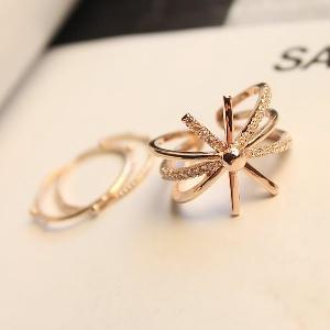 Дамски пръстени в сребрист и златист цвят - 1.7 см