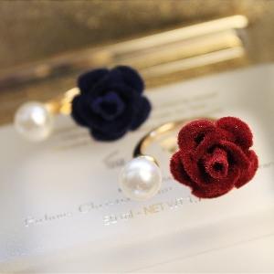 Дамски пръстени в син и червен цвят - тип роза