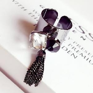 Дамски пръстени с кристали и висулка - различни цветове