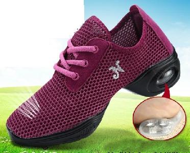 Дамски танцови обувки  - мрежести модели с токове - различни цветове