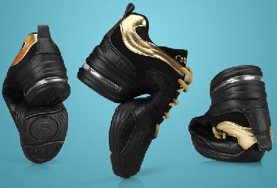 Дамски обувки за танци и аеробика - два модела в черен цвят