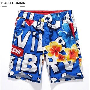 Мъжки плажни еластични панталони - 4 цветни модела
