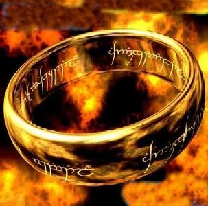 Мъжки пръстен в златист и сребрист цвят - Властелинът на пръстените