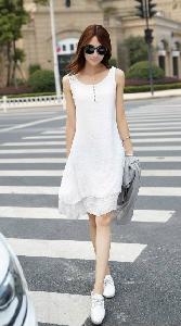 Комплект от дамска миди рокля в няколко цвята и жилетка