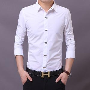 73e0321a13e0 Μονόχρωμα επίσημα ανδρικά πουκάμισα με μακριά μανίκια - διάφορα σχέδια σε  μαύρο