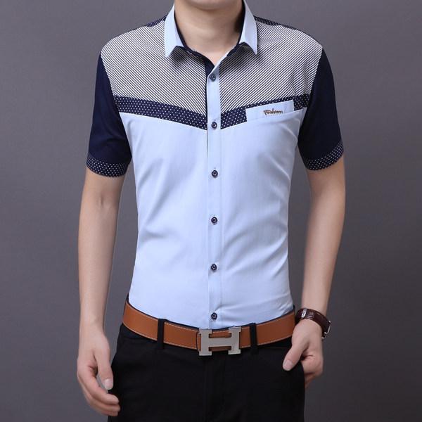 Ανδρικά κοντομάνικα πουκάμισα - αθλητικά-κομψά καλοκαιρινά μοντέλα  βαμβακιού και πολυεστέρα - Badu.gr Ο κόσμος στα χέρια σου 00aa12420fc