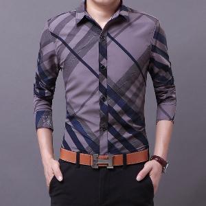 Ανδρικό πουκάμισο με μακριά μανίκια 3 μοντέλα με υλικό βάσης Polyester 31740131689
