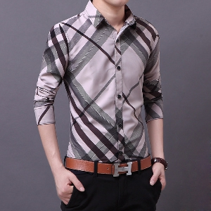 Ανδρικό πουκάμισο με μακριά μανίκια 3 μοντέλα με υλικό βάσης Polyester e336066a52a