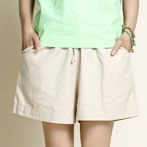 Летни дамски къси панталони в зелен,син,бежов,черен,бял,цикламен и оранжев цвят