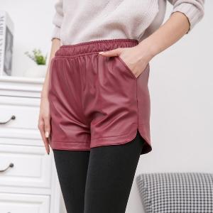 Дамски къси панталони в червен,син и черен цвят -3 модела