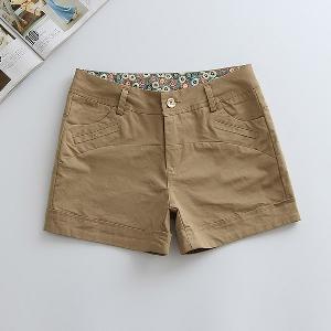 Дамски памучни къси панталони в седем цвята.