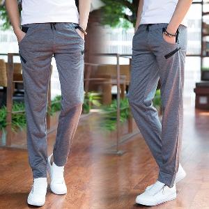 Мъжки дълги спортни панталони - тип слим - за всекидневие и пътуване - черни и сиви модели