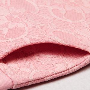 Дамски къси панталони с дантела - син,розов,сив и черен цвят