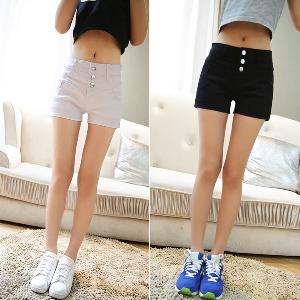 Дамски дънкови къси панталони в сив и черен цвят - два модела
