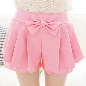Дамски къси панталони с панделка - различни цветове и модели