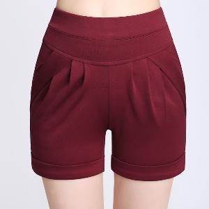 Къси дамски панталони в бял,черен,червен,бежов,зелен и син цвят - 6 модела