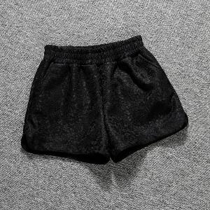Къси дамски панталони - черен и бял модел