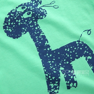Детски летни потници - едноцветни с анимации за момчета - бели, розови, сиви, зелени