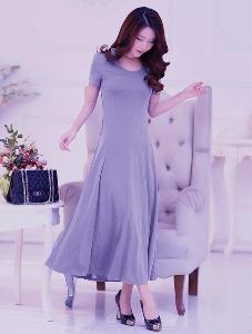 Дамски летни, широки и дълги вечерни и ежедневни рокли - без ръкав, с къс или дълъг ръкав - сини, черни, виненочервени, сиви