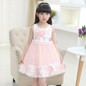 Детски рокли - 3 модела за момичета - летни,  дантелени и с широка част от полата - лилави, розови и бели