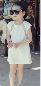Детска бяла летна рокличка
