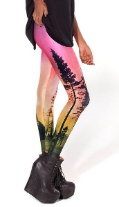 Дамски клин - 3D с интересен мотив и розов