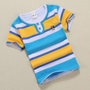 Детски памучни тениски раирани пет модела.