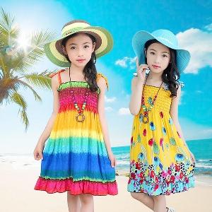 Детски цветни  плажни рокли