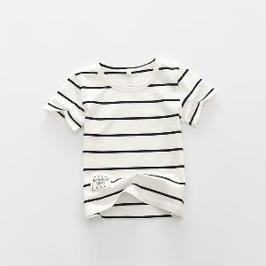 Детски раирани  памучни тениски за момчета-6 модела.