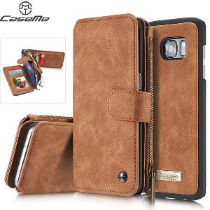 Кожен портфейл - калъфче с магнит за документи подходящ да се добави и телефон Samsung Galaxy 7S и Samsung Galaxy 7S Edge
