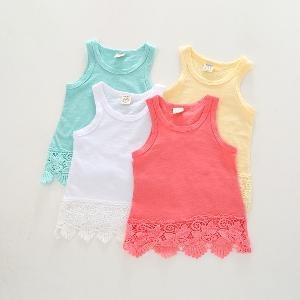 Детски потничета за момичета в четири свежи цвята.