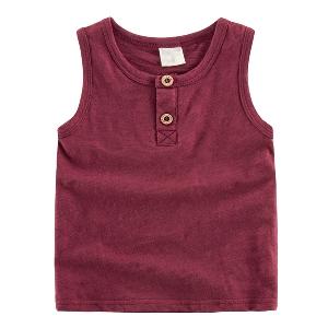 Детски памучни тениски без ръкави за момчета -8 цвята.