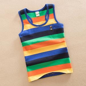 Детски потници за момчета - раирани и цветни - сини, зелени, оранжеви